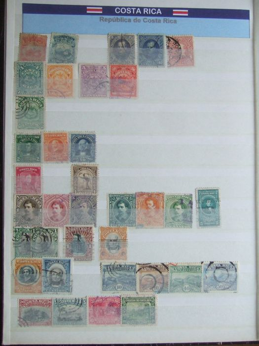 Zuid-Amerika 1850/2015 - lot of over 3,300 stamps: Costa Rica - Ecuador - Mexico - with airmail and end of catalogue -