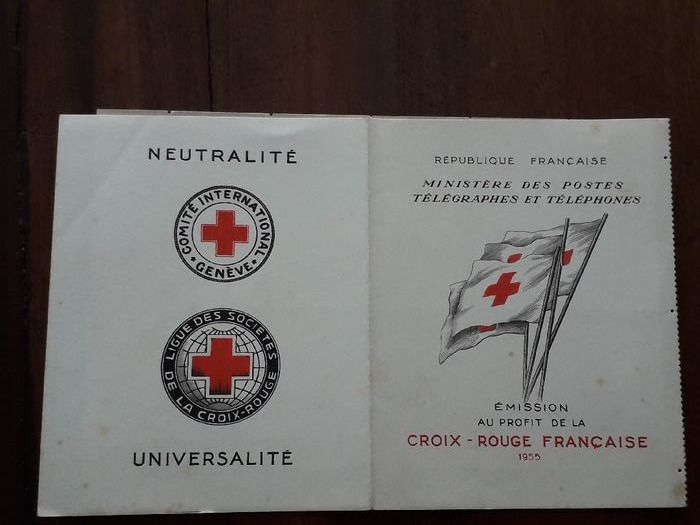 Frankreich 1955 - Red Cross booklet, 1955, very clean.