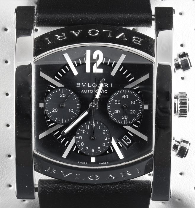 Bvlgari - Assioma - Swiss Automatic Chronograph - Excellent Condition - Ref. No: AA48SCH - Heren - 2000-2010
