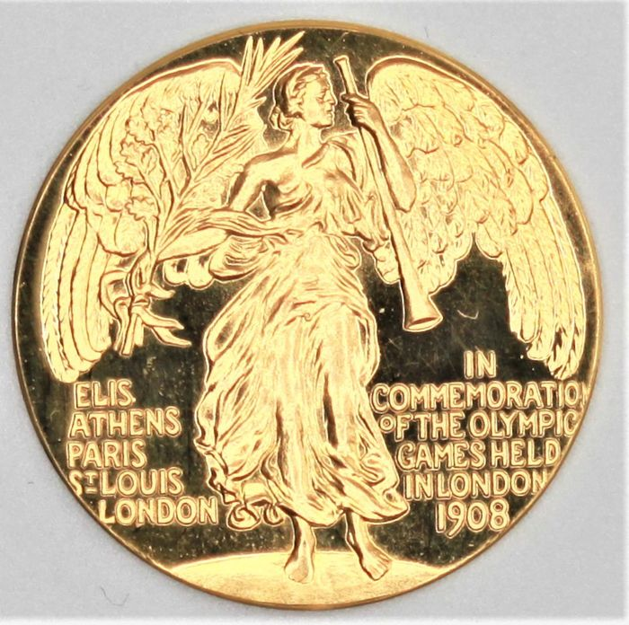Royaume-Uni. Gold medal 1908 Olympic Games London 1908, Commomerative coin restrike