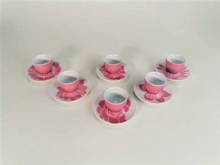 Michael Lin - Rosenthal - Set 6 Koffiekopjes Met Bord Limited Edition (1) - Porselein - Illy Art Collection