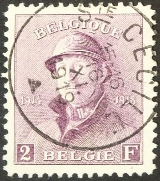 Belgium 1919 - King with helmet / koning met helm: the 2F with Ste Cécile cancellation - OBP / COB 176