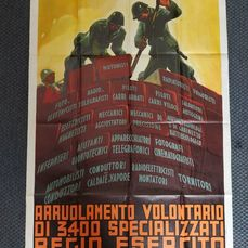 Italy - 1936 important manifesto for the enrollment of volunteers in the Royal Italian Army - 1936