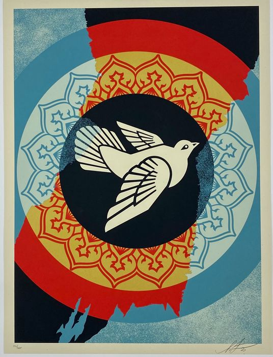 Shepard Fairey (OBEY) - Obey Peace Dove - Holiday Edition