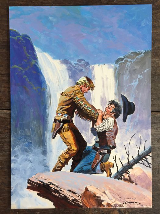Sommer, Manfred - Original painting - Cow-boy - (1970)
