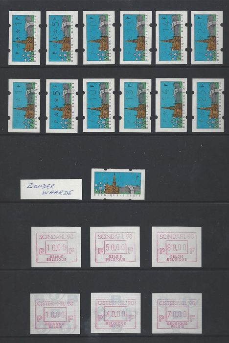 Belgium 1990/2004 - Collection of ATM stamps - OBP / COB