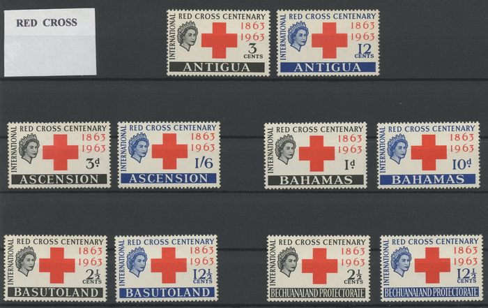 Britische Kolonien - Omnibustouren - Collection related to British colonial tours with Diana, Red Cross, coronation and more