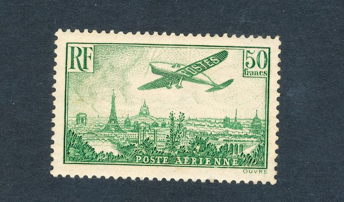 Frankreich 1936 - Rare French airmail stamp No. 14, mint* - Yvert 14