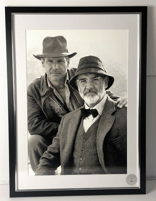 Indiana Jones and the Last Crusade (1989) - Harrison Ford, Sean Connery - Photo, Limited edition - Framed with Certificate