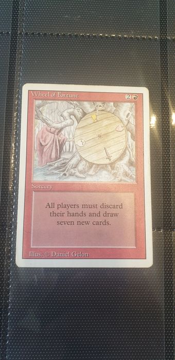 Wizards of The Coast - Magic: The Gathering - Trading card Carte magic revised Wheel of Fortune - 1994
