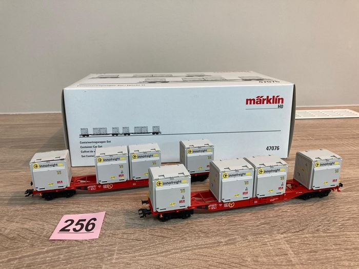 Märklin H0 - 47076 - Freight wagon set - Set of container wagons with WoodTainer XS containers - DB