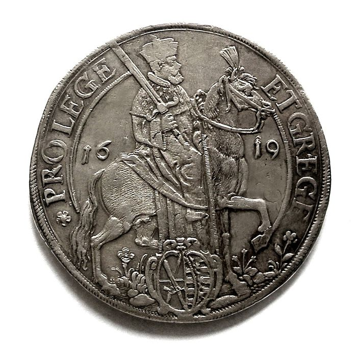 Allemagne, Saxe. Iohann Georg  1616 - 1656. Vicariat taler 1619