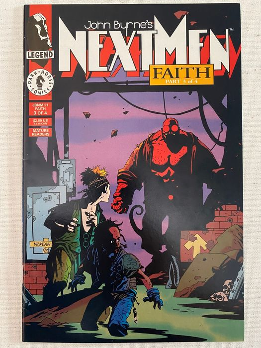 John Byrne's Next Men 21 / Faith part 3 Key Issue First Appearance Of Hellboy - Very High Grade - First Book Where Those Movies Are Based Upon - Softcover - First edition - (1993/1993)