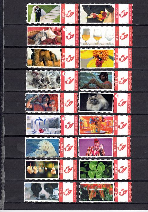 """Belgien - Collection of 116 """" My Stamps"""" including Tintin and Flemish Parliament - OBP / COB"""
