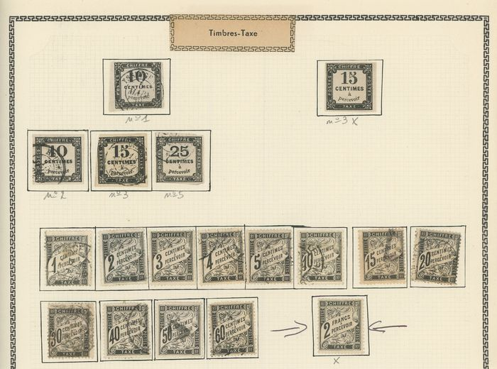 Frankreich 1859/1983 - Set of postage due stamps, semi-modern and antique, with Duval stamps - Value estimate: +4000 - - Yvert Entre les n°1 et 112