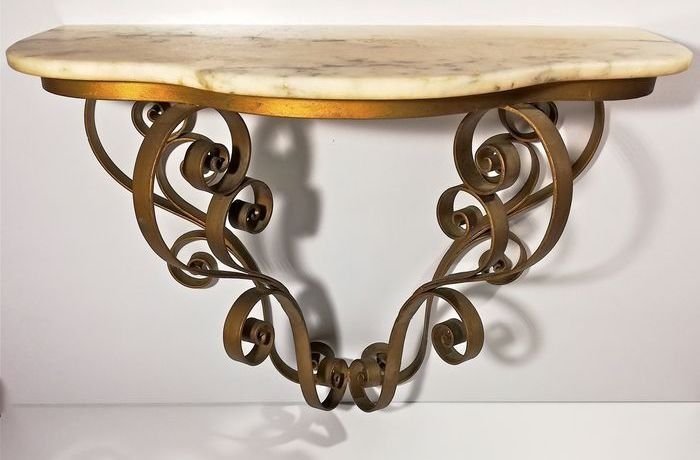 Baroque style wall console
