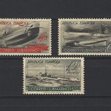 Spagna 1938 - Stamps from the Submarine Post miniature sheet - Edifil SH 781