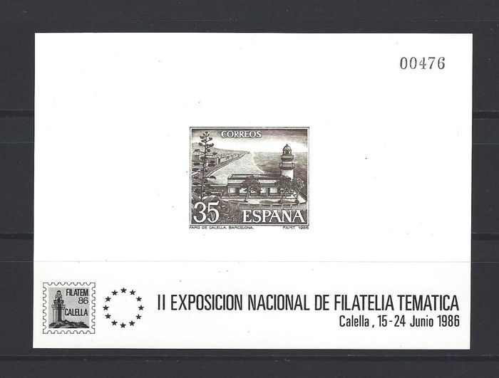 Spanien 1986 - 'Calella' official deluxe proof