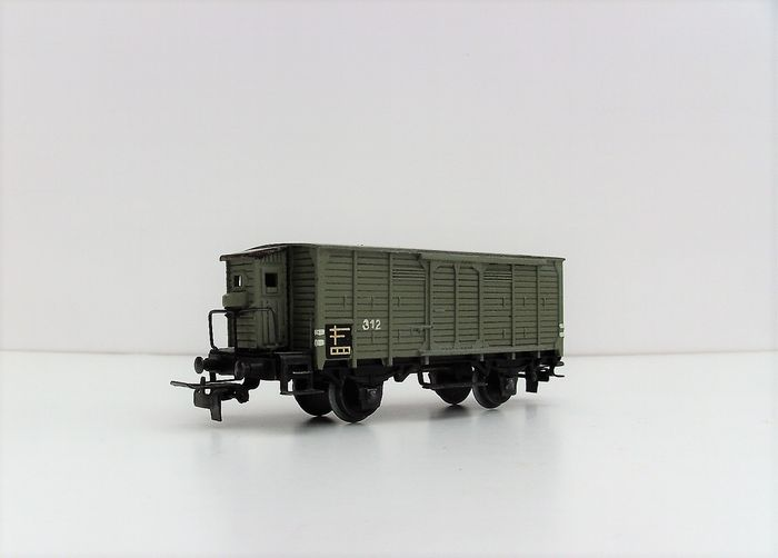 Märklin H0 - 316 g.2 - Freight carriage - 2-axle gray rigid with low-standing brake house
