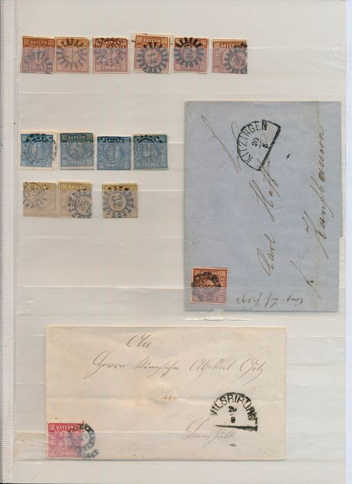 Ancienne Allemagne 1849/1920 - Collection of postal stationery and covers, including better stamps from Bavaria and Hannover