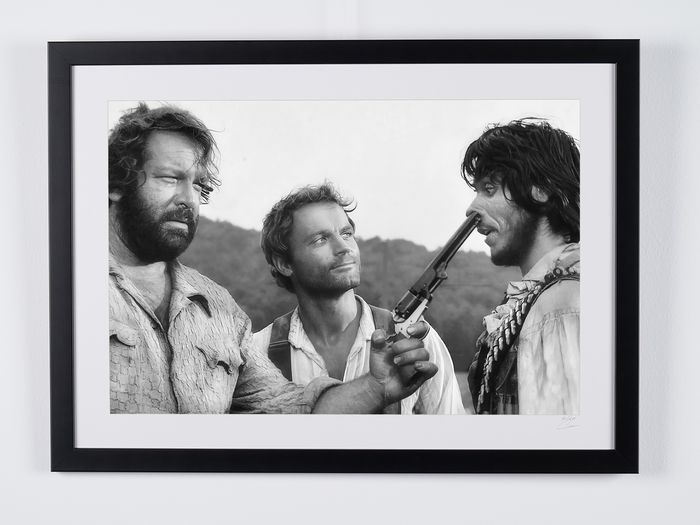 Trinity Is Still My Name (1971) - Bud Spencer & Terence Hill - Foto, nr 03/50 - 70X50 cm - Framed, with numbered COA, Hologram and QR Code