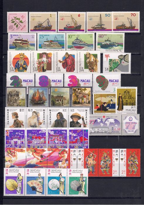 Macao - Beautiful and important collection without duplicate stamps