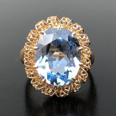 18 kt. Pink gold - Ring - 5.60 ct Topaz - ** NO RESERVE PRICE **