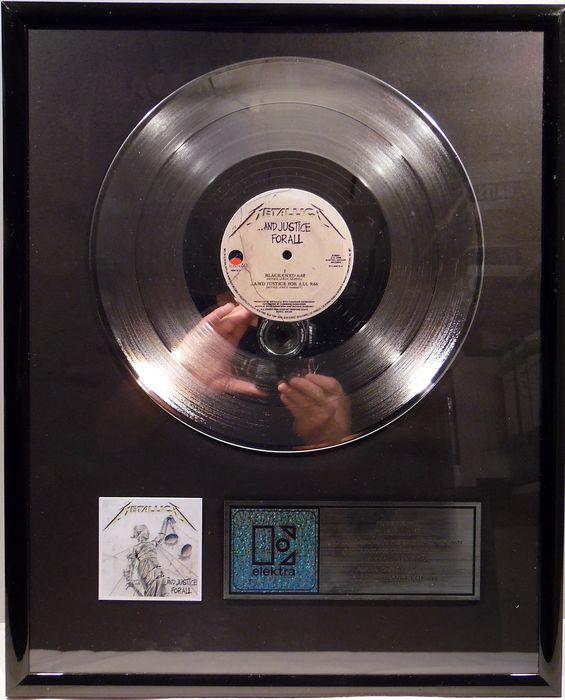 Metallica - ...and justice for all - presented to Metallica - Officieel in-House award - 1988/1988