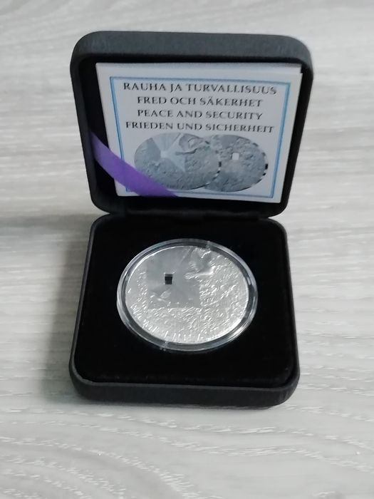 """Finnland. 20 Euro 2009 Proof """"Peace and Security"""""""