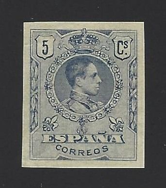 Spanien 1909/1922 - Medallion, colour error, 5 cts, imperforated