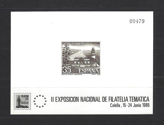Espagne 1986 - 'Calella' official deluxe proof