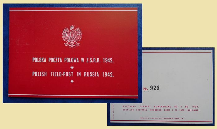 Poland 1942 - Stamp booklet 'Poolse Veldpost in Rusland' - Michel 1