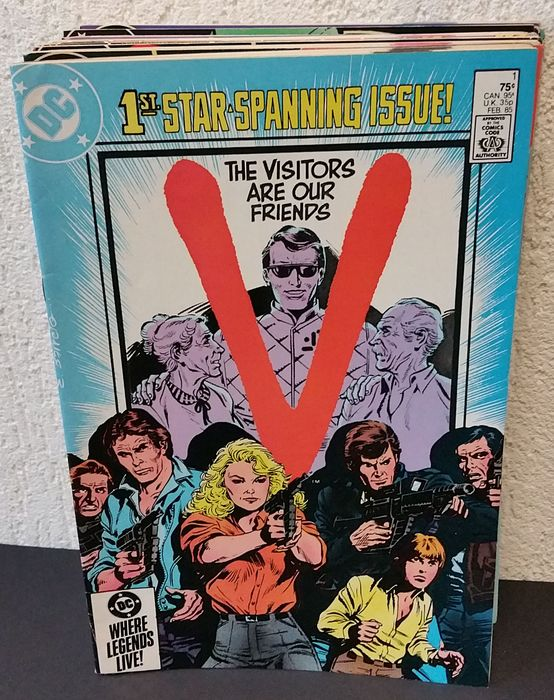 V - Complete serie: #1-18 - Stapled - First edition - (1985/1986)