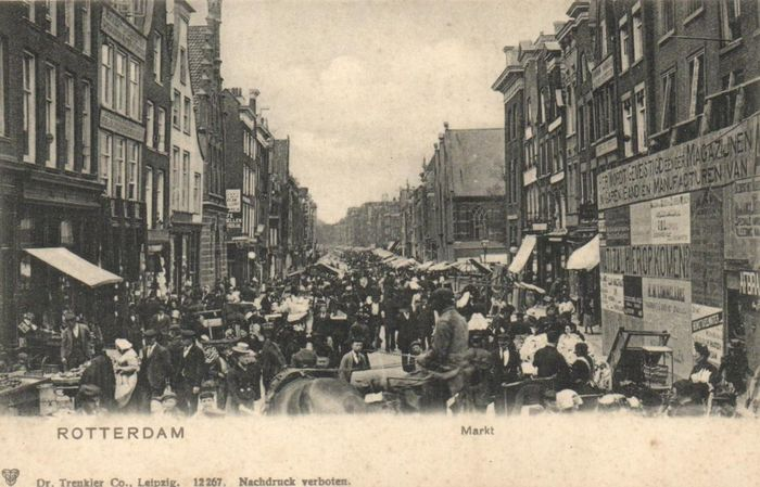 Rotterdam before 1906 - Including very old and lively maps. - Postcards (Collection of 71) - 1899-1906