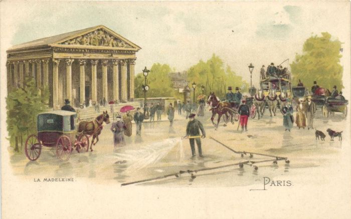 France - Cromolithos of Paris - incl.Watercolors by G.Stein and Loir Luigi - Postcards (Collection of 50) - 1900-1920