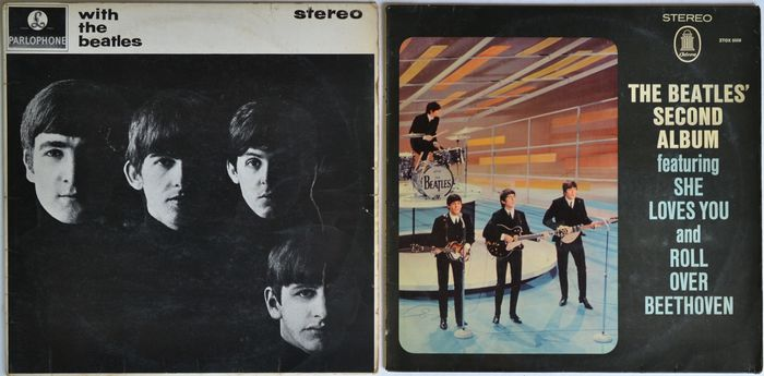 Beatles - With The Beatles [UK First Stereo Pressing] / Second Album [Pressed only for West German Military] - Multiple titles - LP Album, LP's - 1963/1964