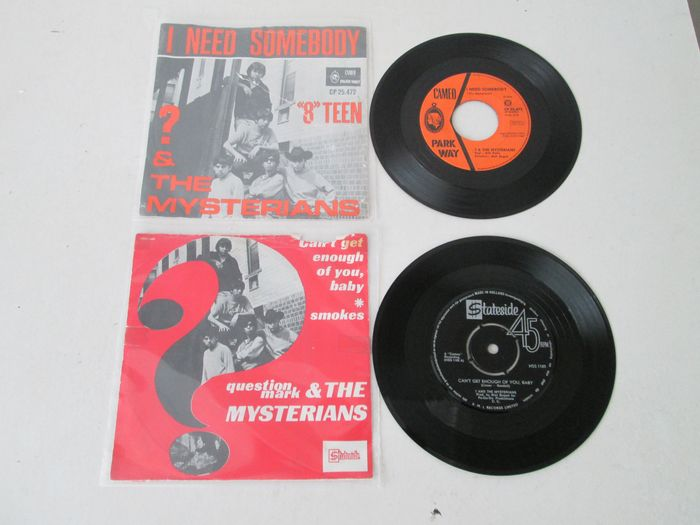 """? (Question Mark) & The Mysterians - I Need Somebody / """"8"""" Teen + Can't Get Enough Of You, Baby/ Smokes - Diverse titels - 45-toerenplaat (Single) - 1967/1968"""