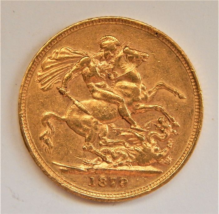 Australië. Sovereign 1879M Victoria St. George Slaying the Dragon