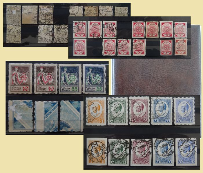 Latvia 1918/1940 - Interesting collection in a stock book