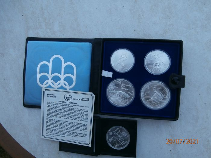Kanada. 5 + 10 Dollars 'Montreal Olympics 1976' (5 pieces) in sets