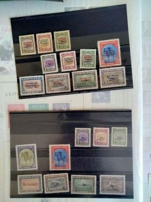 Greenland - Collection with Yearset and o.a Postage stamps, New York issue