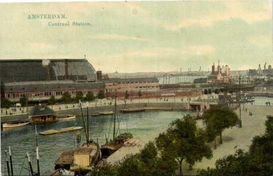 Netherlands - Amsterdam with very old maps - Postcards (106) - 1900