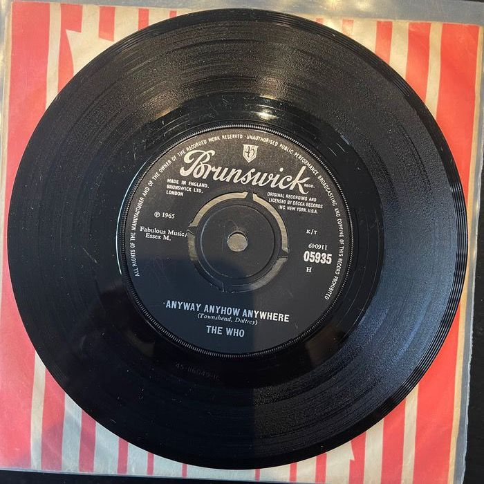 Who & Related - Anyway Anyhow Anywhere/ Daddy Rolling Stone - 45 rpm Single - 1965