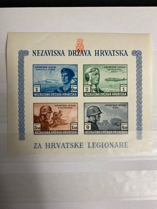 Croatie 1941/1945 - Album with all years