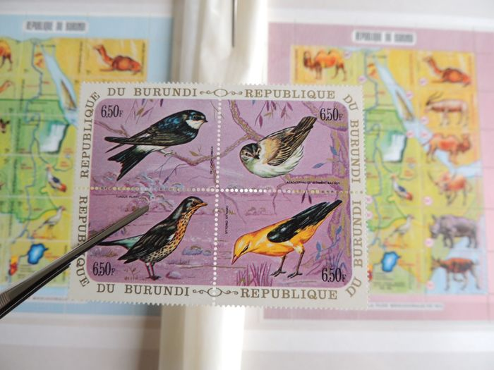 Burundi 1968/1977 - Collection in complete series and blocks on binder pages, between - OBP / COB 294 & 792