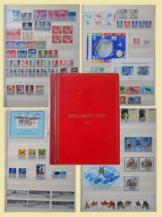 GDR 1949/1990 - Collection in stock books plus carnet.