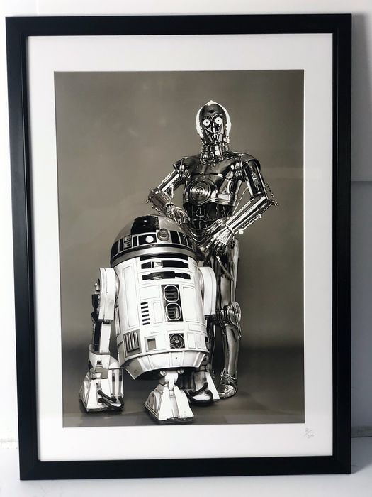 Star Wars - R2-D2 & C-3PO - The Droids you are looking for - Fotografia, Limited edition - Framed