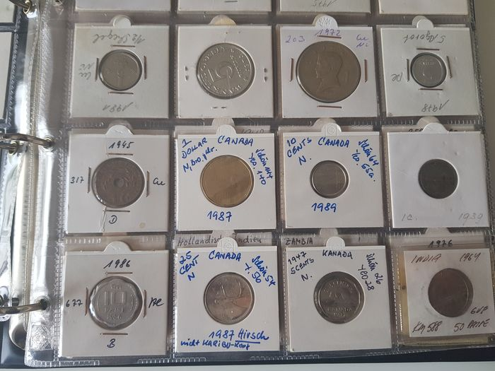 World. Album with classified 120 World Coins + ca. 2 kilo World Coins unclassified