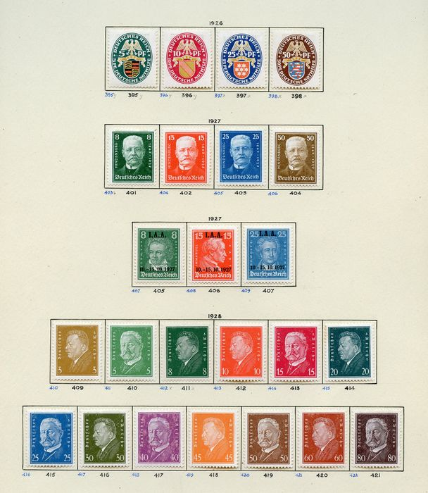 Deutsches Reich 1916/1930 - Several stamps of the inflation period