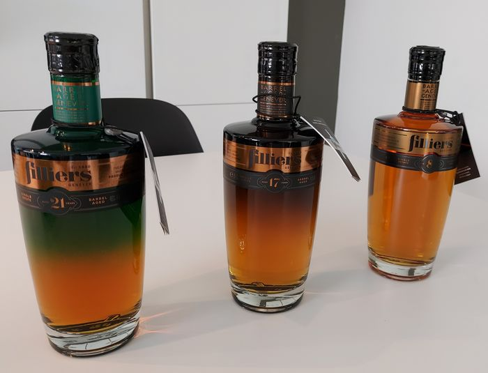 Filliers - 8, 17 & 21 year old Barrel Aged Genever - 70cl - 3 bouteilles